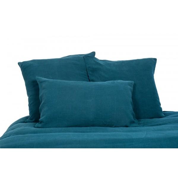 drap plat viti bleu de prusse harmony 270x290 cm planete deco tissus au m tre mercerie. Black Bedroom Furniture Sets. Home Design Ideas
